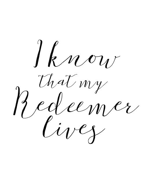 Mimi Lee Printables & More: I Know that my Redeemer Lives- FREEBIE- 4 versions