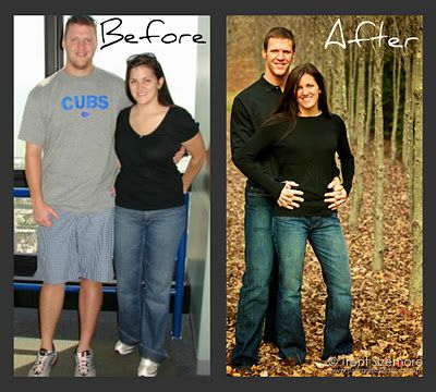 "Clean Eating - Transformation - He went from a waist size of 38"" to a waist size of 32"" & she went from a size 10 to a size 2----this site has great recipes to try"