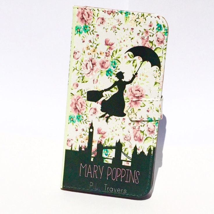 Book phone /iPhone flip Wallet case- Mary Poppins for  iPhone X, 8, 7, 6, 5, 6 7 & 8 plus, Samsung Galaxy S8 S7 S6, S5 Note 4 5 7 8 LG by chicklitdesigns on Etsy https://www.etsy.com/listing/233296816/book-phone-iphone-flip-wallet-case-mary