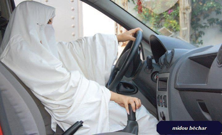 White hijab/ niqabed girl driving
