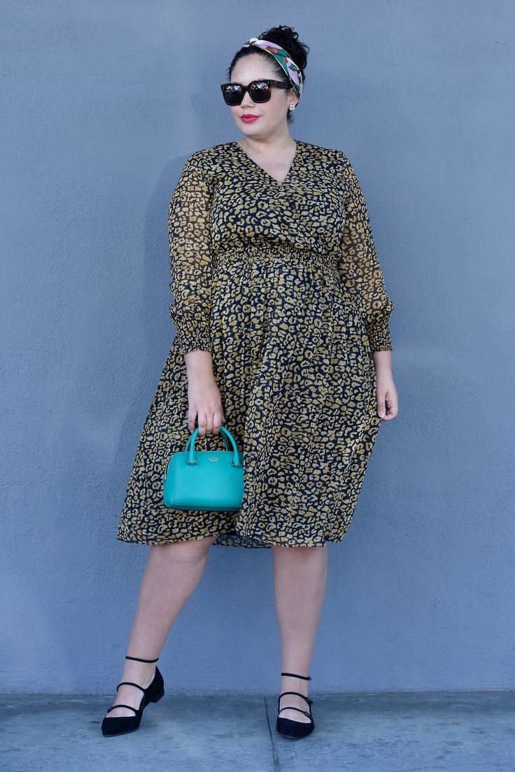 This Cheetah Print Dress is a Must-Have via @GirlWithCurves