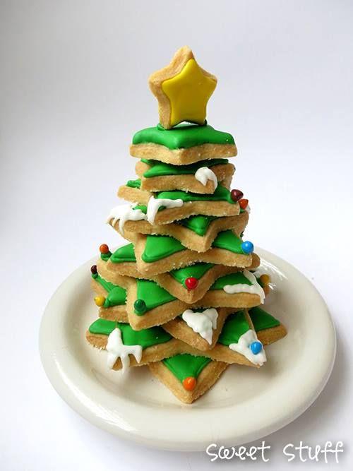 Christmas shortbread Cookies  #SweetStuff #ChristmasTree