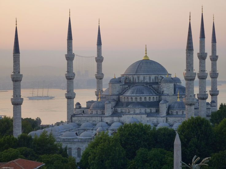 https://flic.kr/p/dtQtXR | Happy Friday ! /  Blue mosque, Istanbul |  Buy this photo on Getty Images : Getty Images  The Blue mosque in Istanbul. The ship between the minarets is the cruiseliner Star Flyer, built in 1991 after a 19th century clipper.  The Sultan Ahmed Mosque (Turkish: Sultanahmet Camii) is an historical mosque in Istanbul. The mosque is popularly known as the Blue Mosque for the blue tiles adorning the walls of its interior.  It was built from 1609 to 1616, during the rule…