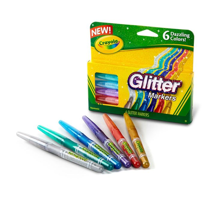 fashion tote 6 ct  Glitter Markers   Crayola