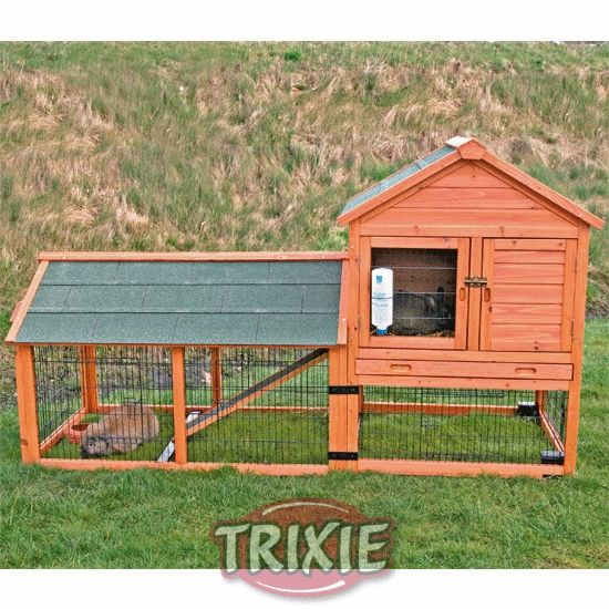 Giant Super Large Rabbit Cage | Details about Giant Rabbit Hutch Hen House and Run With Wheels