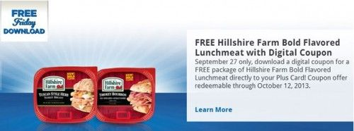 Kroger Free Friday Download for 9-27 - Must download today but you have until 10/12/13 to redeem!