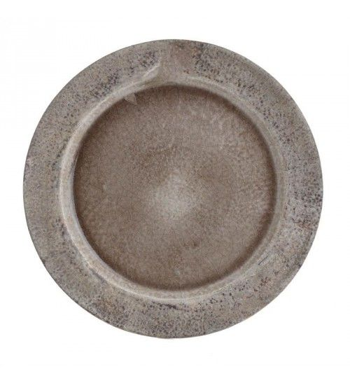 CERAMIC PLATE IN CREME_GREY COLOR D28_5X3_5