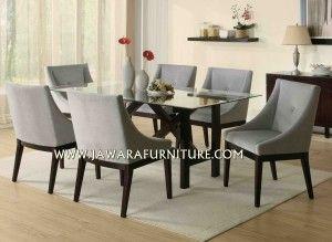 meja makan minimalis mewah 6 kursi harga murah
