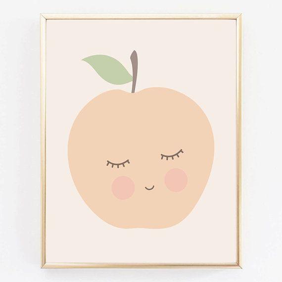 Apple Kidu0027s Print Nursery Decor Kids Room By On Etsy