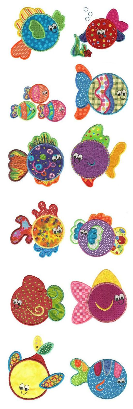Simply Sweet Fishies Applique available for instant download at www.designsbyjuju.com