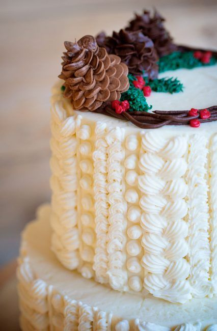 Re-creating the delicate and unique texture of a cable-knit sweater on a cake can be an easy process. By mastering just a few easy piping steps you can enjoy this comforting cold weather tradition!