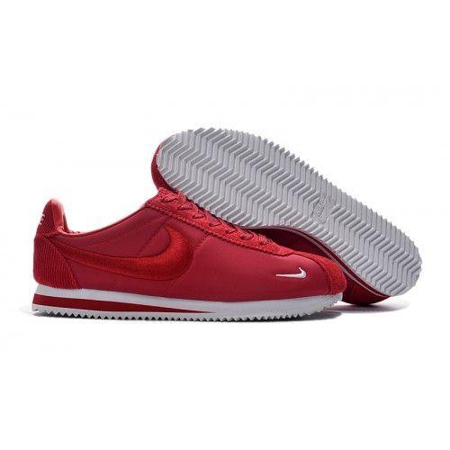 Bast Nike Cortez Herr Dam Rod Vit Online Loparskor