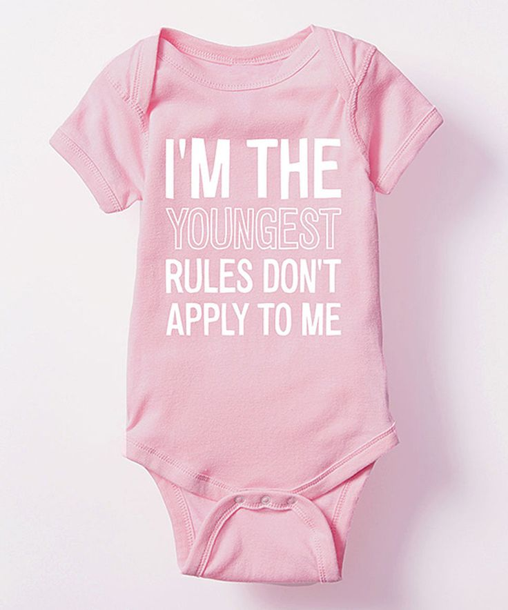 Love this Pink & White 'Rules Don't Apply' Bodysuit - Infant by It's Just Me on #zulily! #zulilyfinds