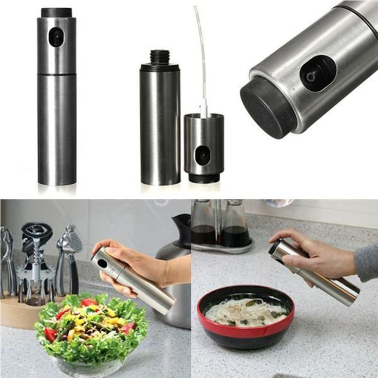 Kitchen Tool Portable Stainless Steel Pump Spray Fine Bottle Olive Oil Sprayer