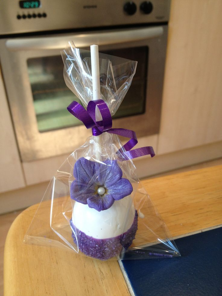 Purple Bridal Shower Cakepops