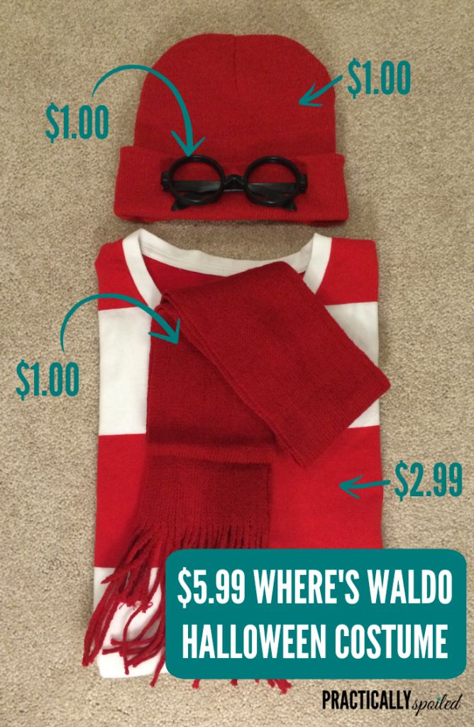 $5.99 DIY Where's Waldo Halloween Costume - practicallyspoiled.com