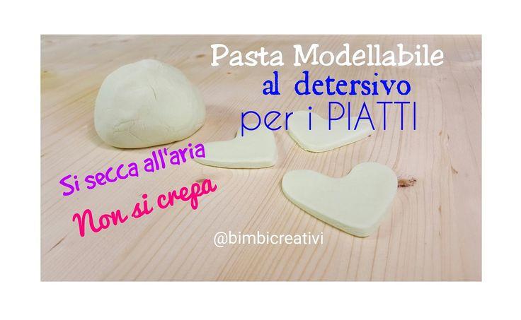 Come fare la pasta modellabile con il detersivo per i piatti. E' semplice, veloce e si asciuga all'aria senza fare le crepe
