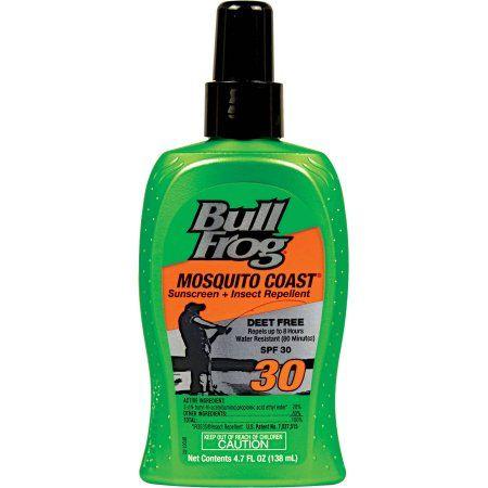 Bull Frog Mosquito Coast Sunscreen SPF 30, 4.7 oz, Multicolor