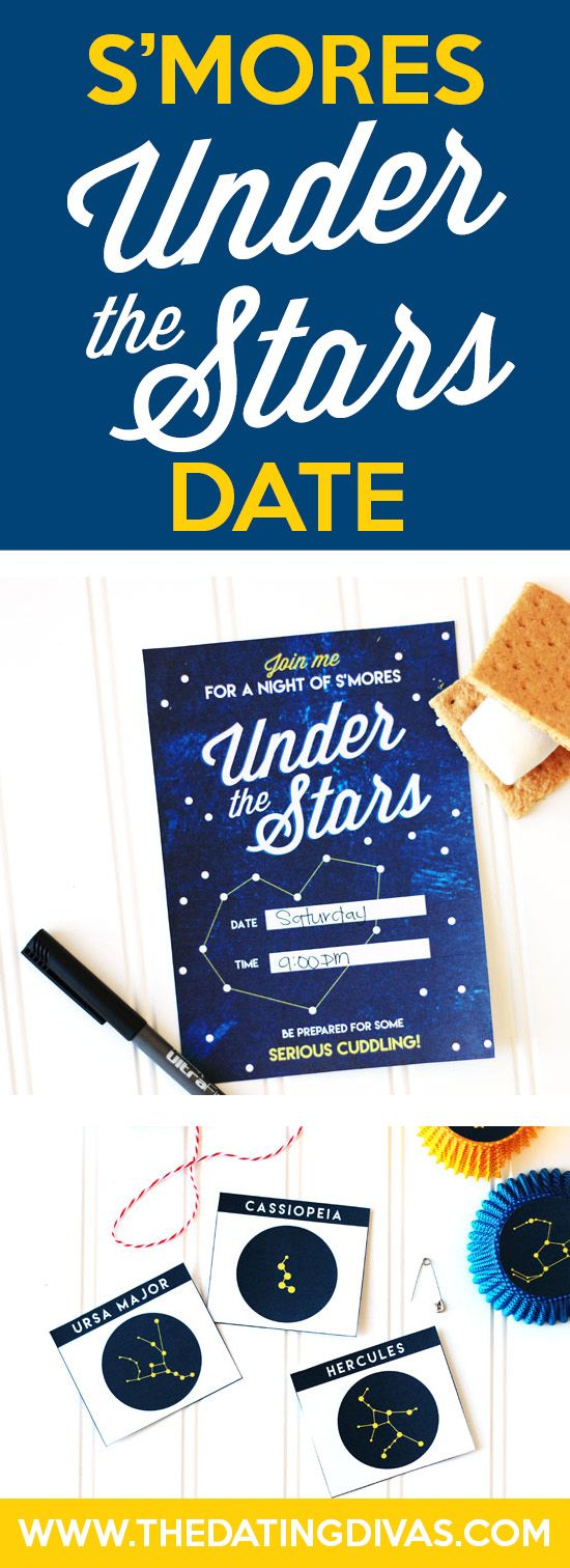 Star gazing is my favorite thing to do on a warm summer night. S'mores Under the Stars is such an easy and fun date idea!! DONE!! www.TheDatingDivas.com
