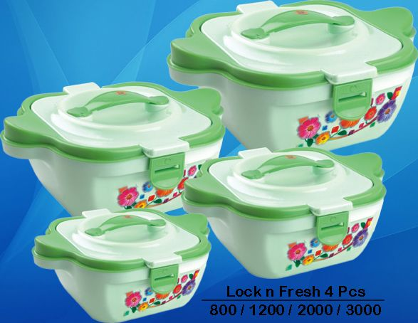 #TrinityPlast #Lock_N_Fresh #4Pcs #SS #Hot #Pot #Suppliers #Traders #Manufacturers #Casserole