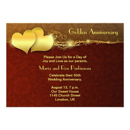 Golden Wedding Anniversary Invitations Wording: 17 Best Images About Grandparents' 50th Wedding