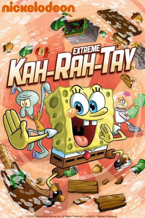 SpongeBob SquarePants: SpongeBobs Extreme Kah-Rah-Tay Poster Artwork - Tom Kenny, Bill Fagerbakke, Rodger Bumpass - http://www.movie-poster-artwork-finder.com/spongebob-squarepants-spongebobs-extreme-kah-rah-tay-poster-artwork-tom-kenny-bill-fagerbakke-rodger-bumpass/