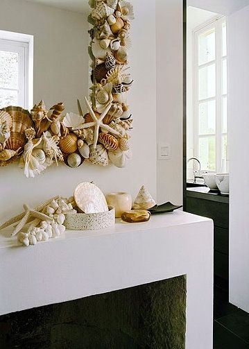 Amazing shell mirror