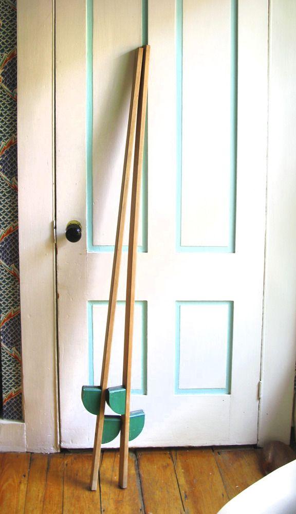 1960's Creative Playthings Wooden StiltsWood Scrap, 1960S