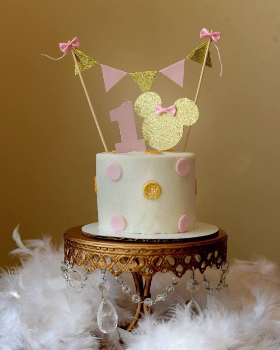 Minnie Mouse Cake Topper by SmashCaked on Etsy