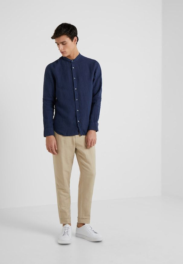 Skinny Fit Overhemd.Camicia Slim Fit Overhemd Dark Blue Men S Style In 2019 Mens