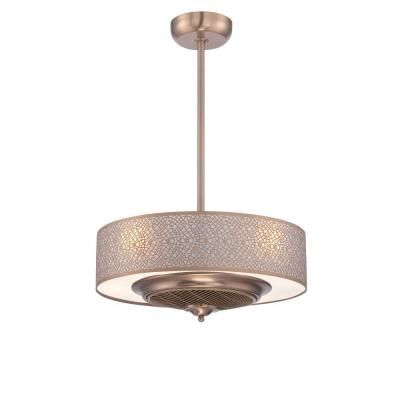 Fancy Cozette Collection in Satin Copper Indoor Ceiling Fan WI The