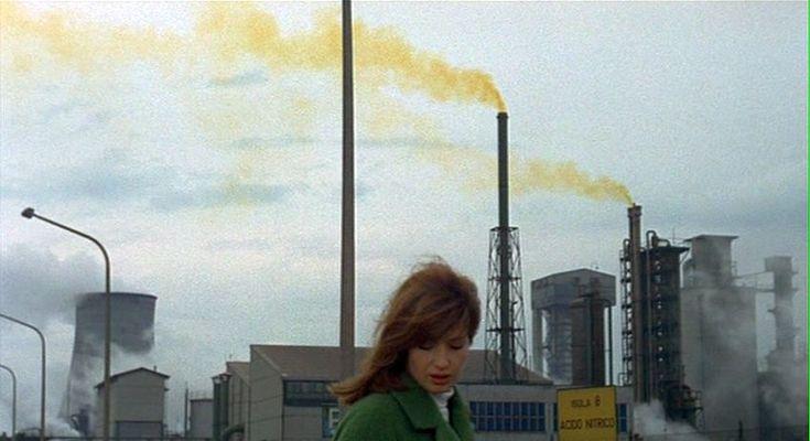 "Monica Vitti in ""Red Desert"" by Michelangelo Antonioni (1964)."