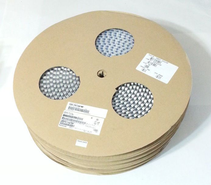 Electrolytic Capacitor SMD Panasonic 47uF 50V 8x6.2mm EEE-FK1H470P NEW 3000Pcs #Panasonic