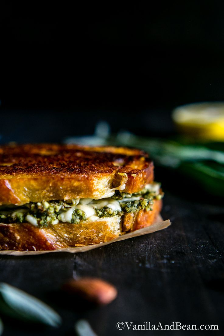 Almond-Sage Pesto Grilled Cheese Sandwich with Gruyere | Recipe ...