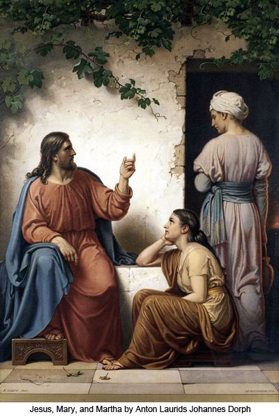 martha and mary meet jesus in the word