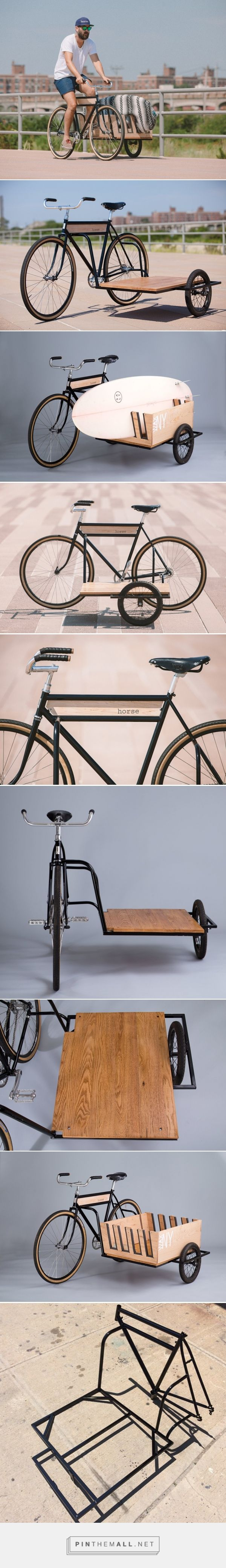 haul large packages and surfboards with the horse sidecar bicycle - created via http://pinthemall.net
