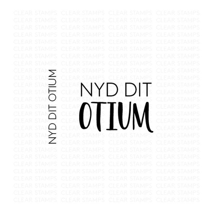 Nyd dit otium - Three scoops stempel