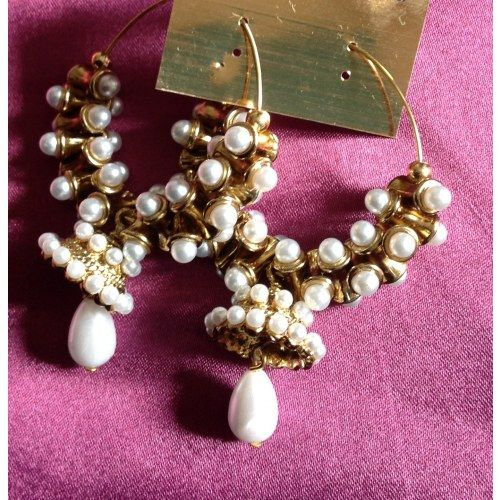 Pearl jhumkas - Online Shopping for Earrings by rang!