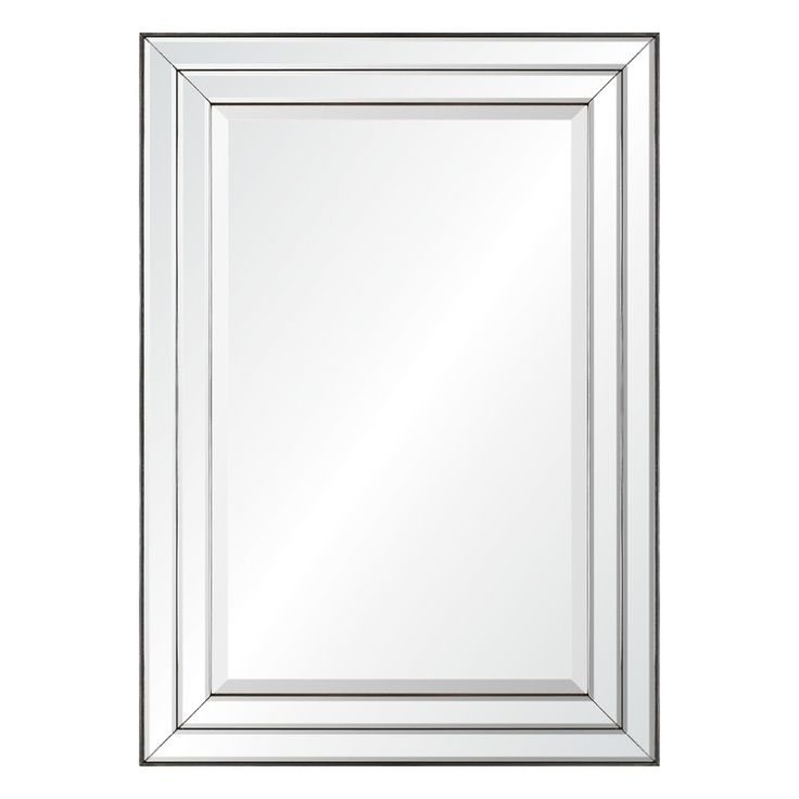 allen + roth 23.85-in x 33.85-in Mirror On Mirror Beveled Rectangle Framed Transitional Wall Mirror