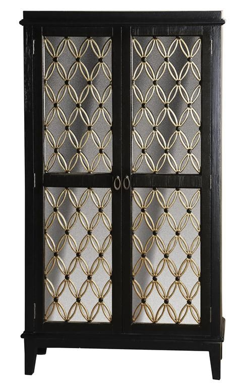 Ski Home Meridian A Tall Chest Finished In Black Offers Gorgeously Ornamented Doors