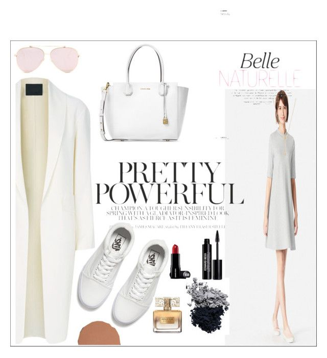 """Rhapsody in White"" by magnificentwoman422 ❤ liked on Polyvore featuring Alexander Wang, Uniqlo, EF Collection, Michael Kors, Vans, Givenchy, Bobbi Brown Cosmetics, Tom Ford and Edward Bess"