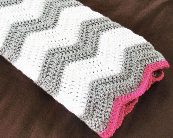 CROCHET PATTERN Chevron baby blanket crochet by ...