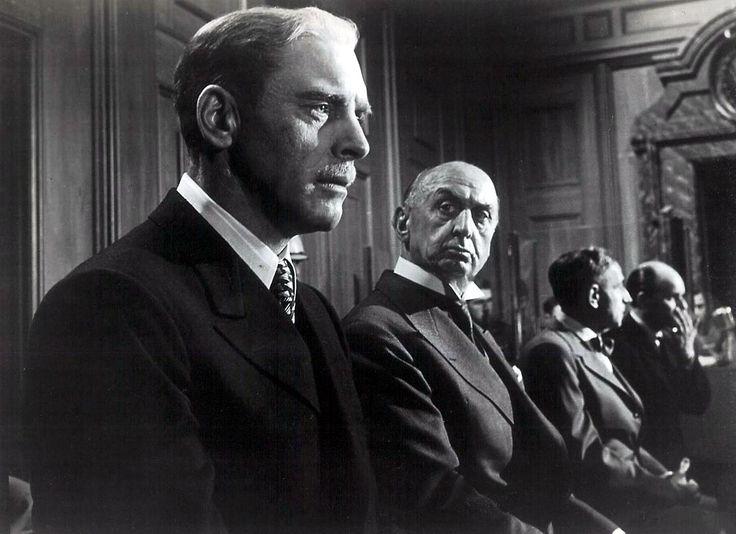 Judgment at Nuremberg [1961] directed by Stanley Kramer, starring Spencer Tracy, Burt Lancaster, Marlene Dietrich, Judy Garland, Richard Widmark, and Maximillian Schell.