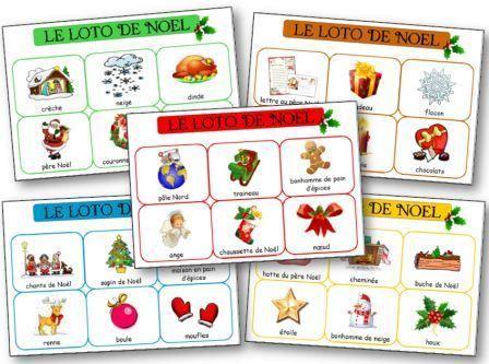 Loto de Noël à imprimer gratuitement, Loto Noël maternelle petite section moyenne section et grande section ps ms gs