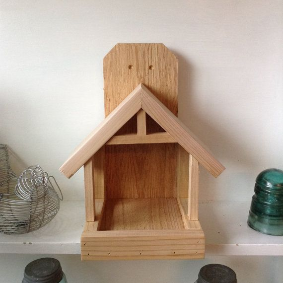 Welcome to SoilandSawdust Please read the listing in its entirety before purchasing. This listing is for a Robin nest box constructed out of cedar wood. This nest box is designed to provide a comfortable home for Robins, Mourning Doves or other birds that prefer an open front nest box. We have pre-drilled holes for easy mounting either to your house, fence post, tree or wherever you can provide a nice living quarter for your new friends! Robins will build their nest on the protected…