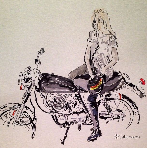 Cabanaem Motorcycle Art Two Four Wheels Motorcycle