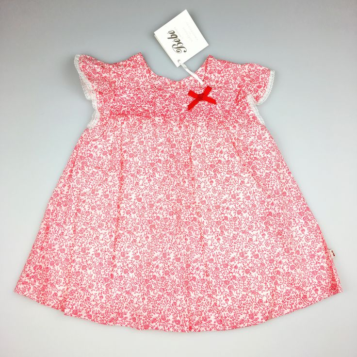 BEBEby MINIHAHA, baby girl's floral print, lined, cotton dress, brand new with tags (BNWT), size 6 months, $16