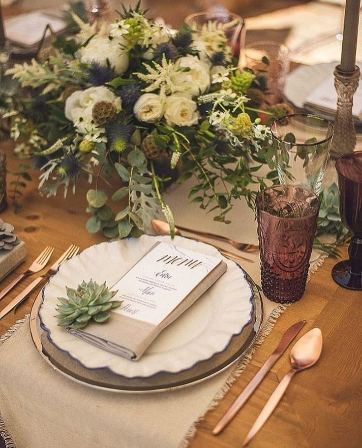 667 best decorao wedding decor images on pinterest wedding in love with these succulent place settings junglespirit Choice Image