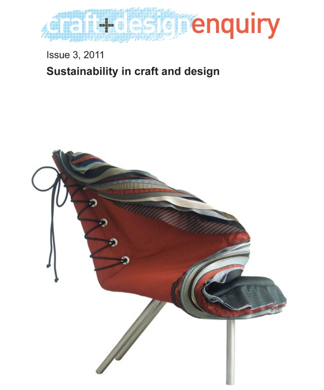 craft+design enquiry Journal issue 3  Sustainability in craft and design