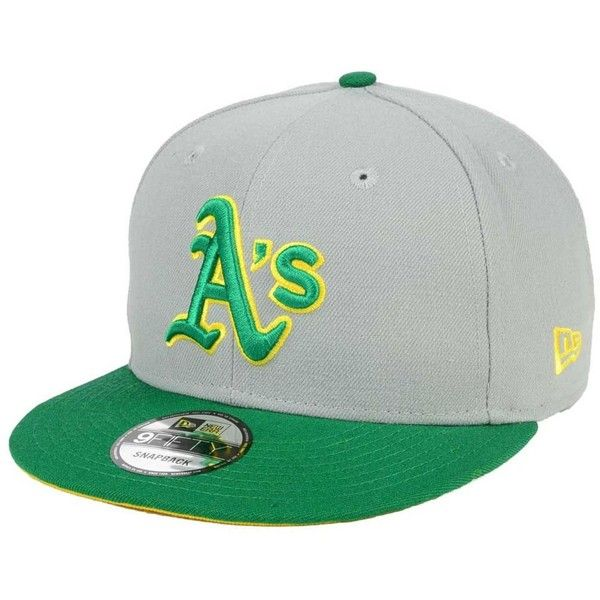 New Era Oakland Athletics All Shades 9FIFTY Snapback Cap (105 BRL) ❤ liked on Polyvore featuring men's fashion, men's accessories, men's hats, mens snapback hats and mens caps and hats